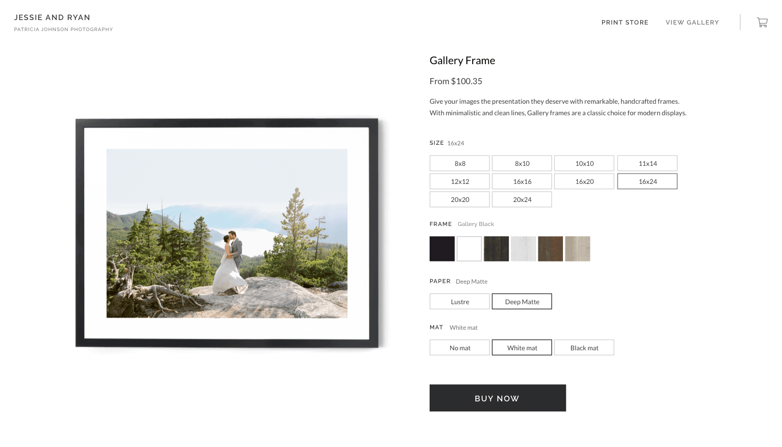 Easy online stores for photographers